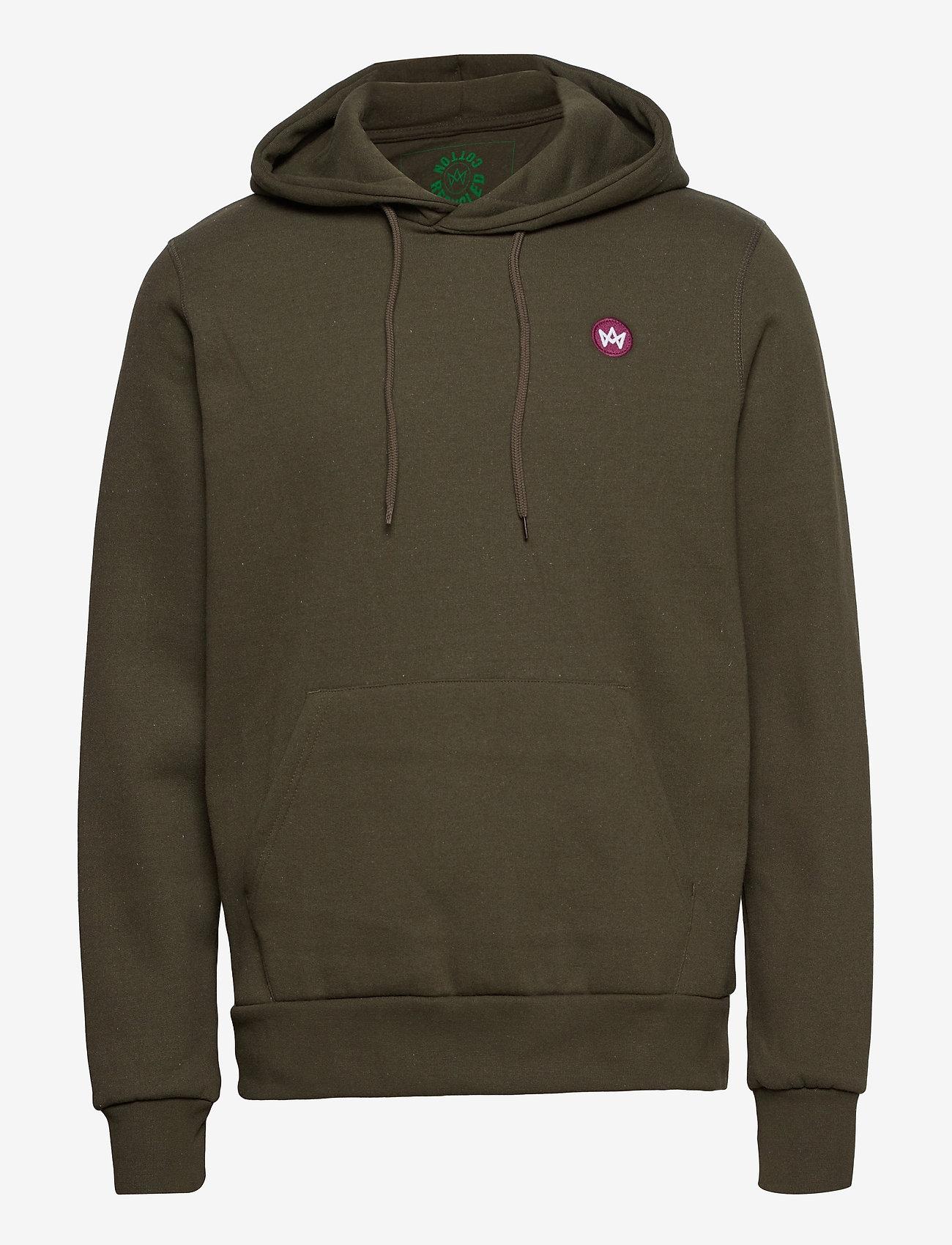 Kronstadt - Lars Recycled cotton hood - sweats à capuche - khaki green - 0