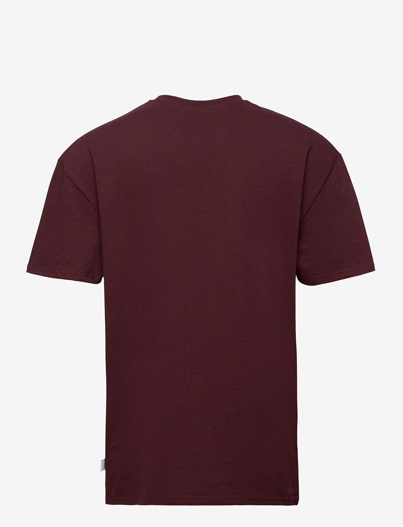 Kronstadt - Martin Recycled cotton boxfit t-shirt - basic t-shirts - sangria - 1