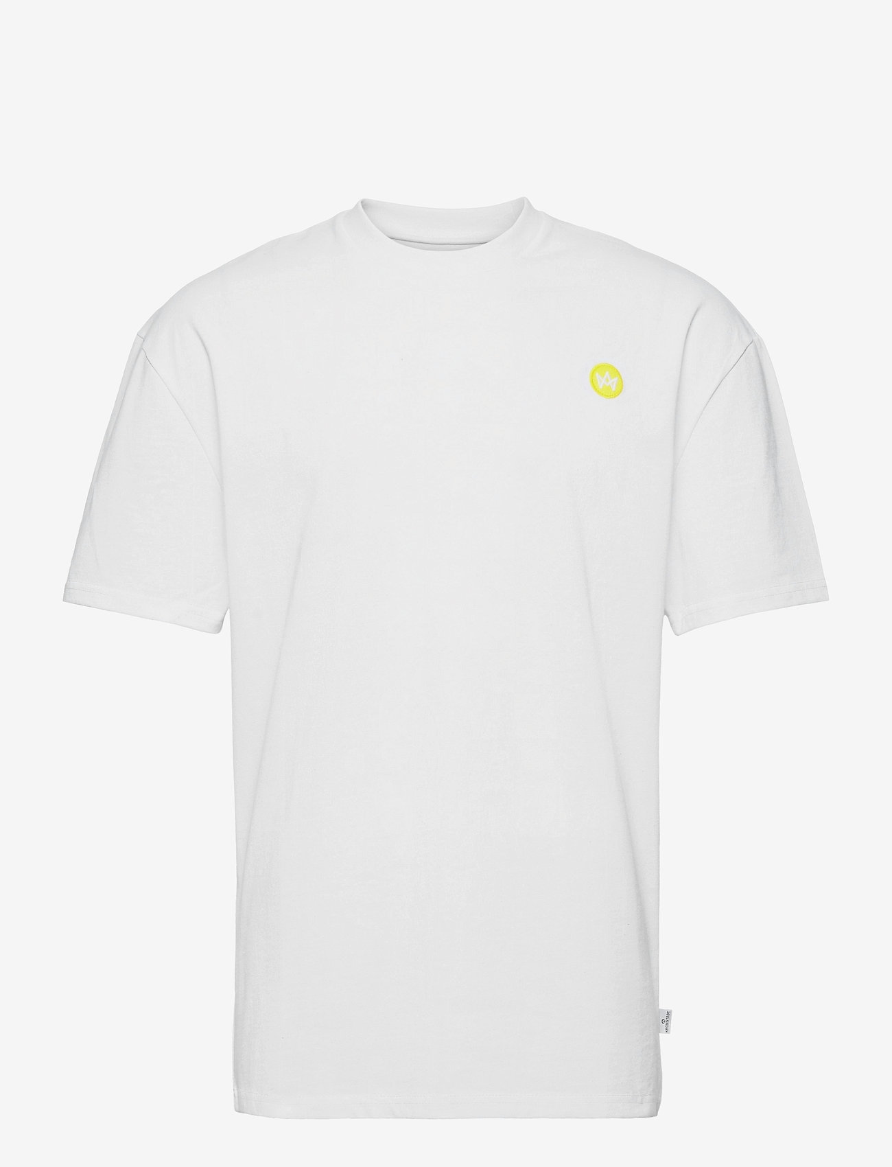 Kronstadt - Martin Recycled cotton boxfit t-shirt - t-shirts basiques - white - 0