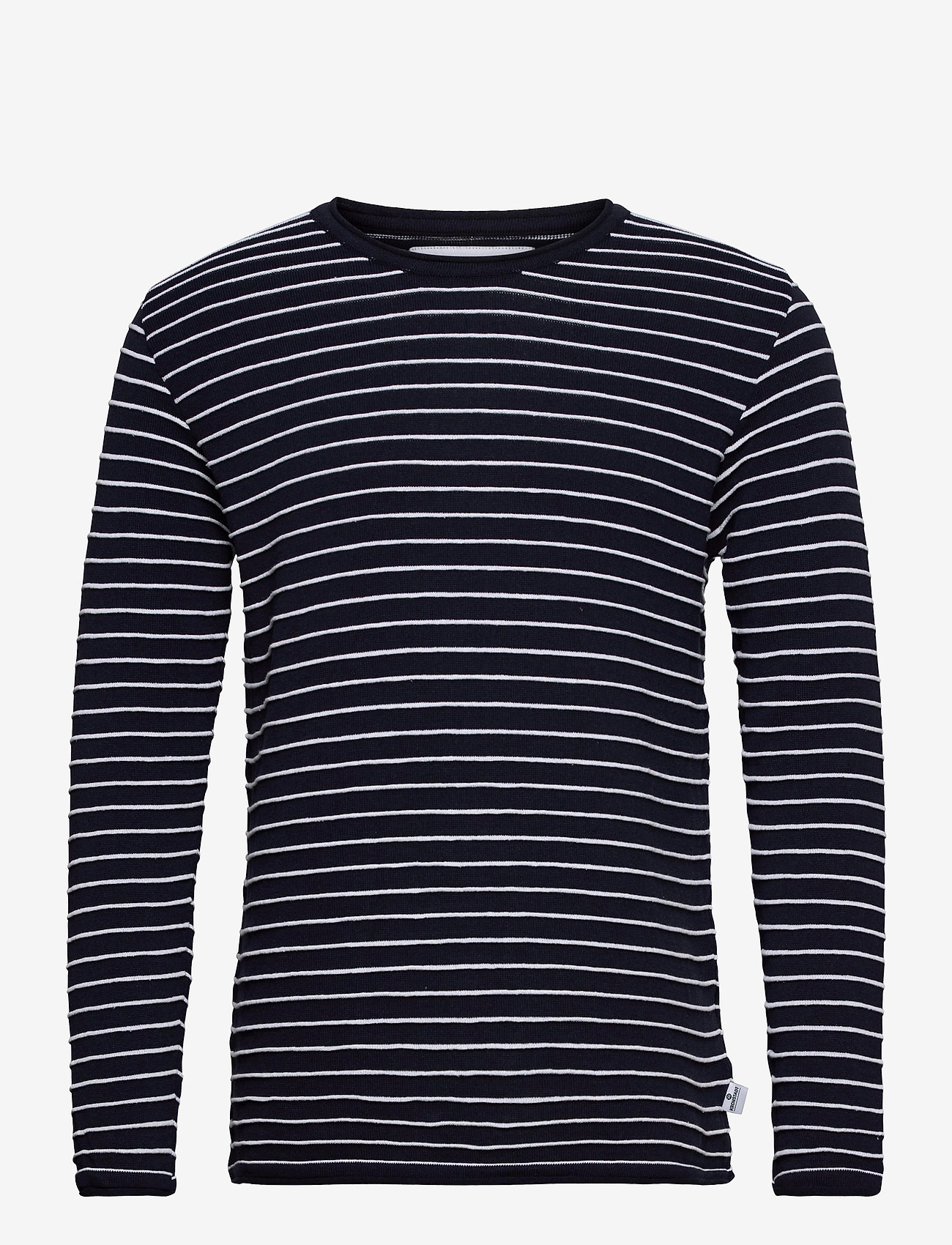 Kronstadt - Viking Recycled cotton knit - t-shirts à manches longues - navy - 0