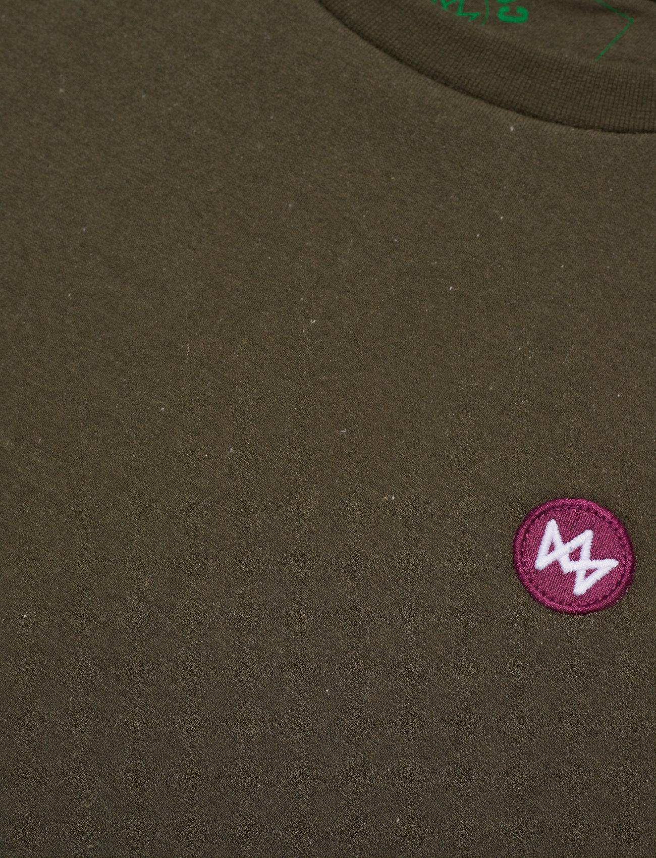Kronstadt - Lars Recycled cotton sweat - truien - khaki green - 2