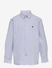 Kronstadt - Johan Oxford Stripe - shirts - white / light blue - 0