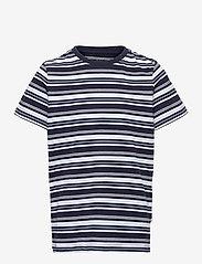 Kronstadt - Halfdan Recycled - short-sleeved - navy/lt.blue/white - 0