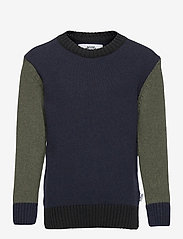 Kronstadt - Michael Crew Recycled - jumpers - navy/army - 0