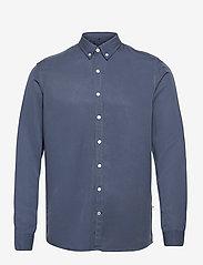 Kronstadt - Johan Tencel shirt - chemises de lin - blue - 0