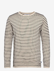 Viking Recycled cotton knit - OFF WHITE / NAVY