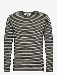 Kronstadt - Viking Recycled cotton knit - t-shirts à manches longues - sacramento - 0
