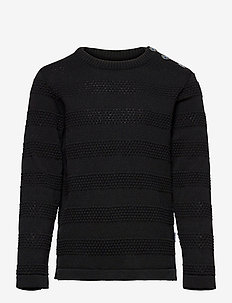 Keld Plain - knitwear - black/cobalt