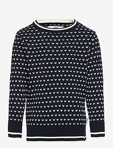 Alfie Recycled - habits tricotés - navy/white