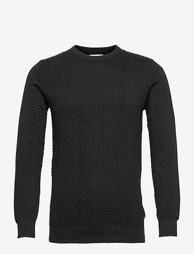 Carlo Cotton knit - tricots basiques - black