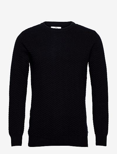 Carlo Cotton knit - tricots basiques - navy