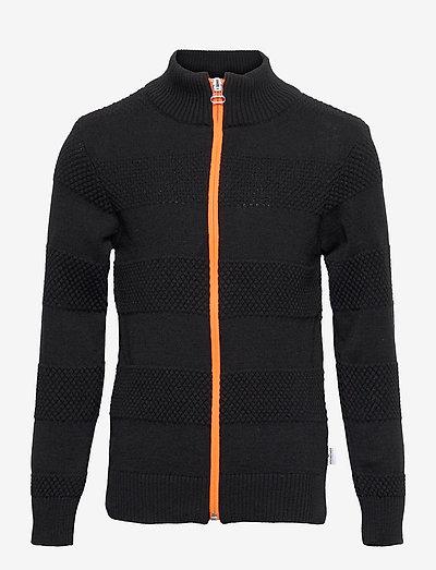 Jacob Zip - cardigans - black/orange