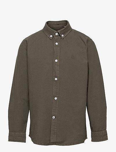 Johan Oxford Washed - shirts - army