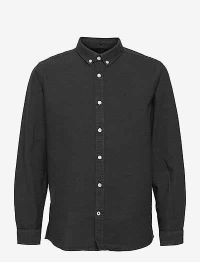 Johan Oxford Washed - shirts - black