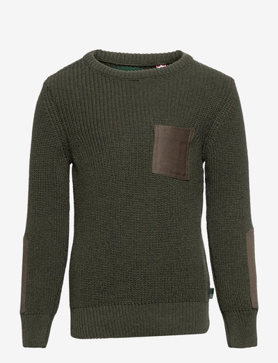 Pelle Recycled cotton knit - trøjer - army