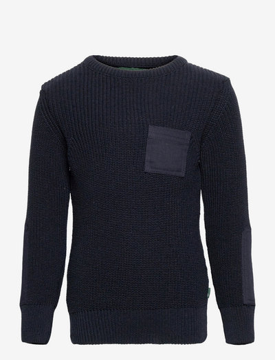 Pelle Recycled cotton knit - trøjer - navy