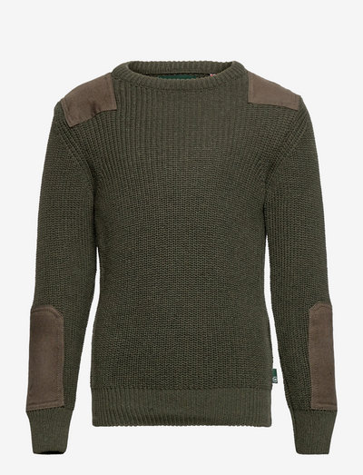Viggo recycled crew knit - jumpers - army