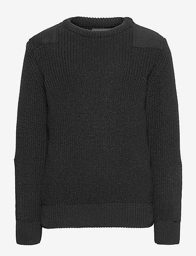Viggo recycled crew knit - knitwear - black