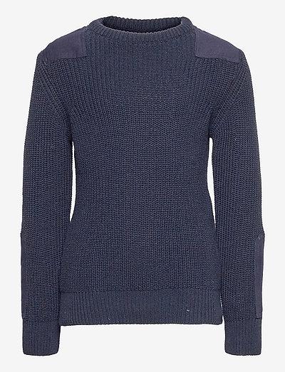 Viggo recycled crew knit - knitwear - navy