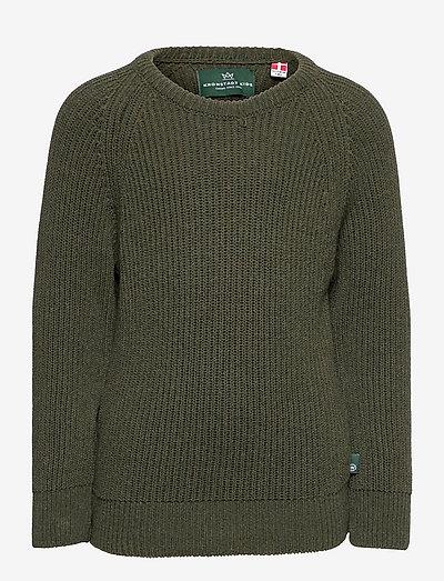 Linus recycled crew knit - trøjer - army
