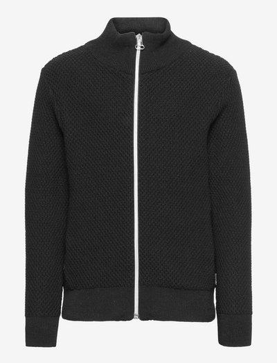 Gavin Zip knit - cardigans - black