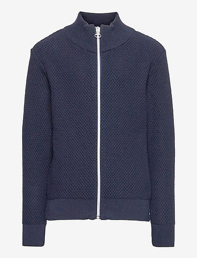 Gavin Zip knit - cardigans - navy