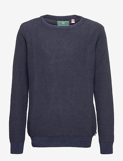 Jameson Crew - knitwear - navy / dark brown