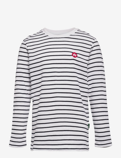 Timmi LS Stripe  Organic Recycled tee - long-sleeved - white/navy