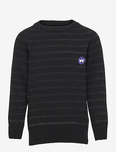 Liam Crew Stripe Recycle - trøjer - black/charcoal