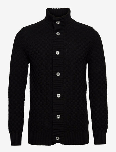 Benjamin Recycled cotton cardigan - tricots basiques - black