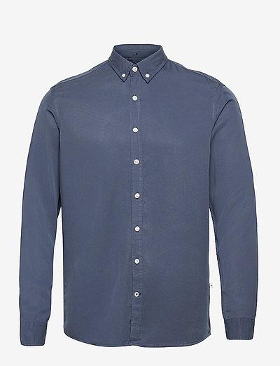 Johan Tencel shirt - chemises à carreaux - blue
