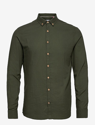 Dean Diego Cotton shirt - chemises basiques - army