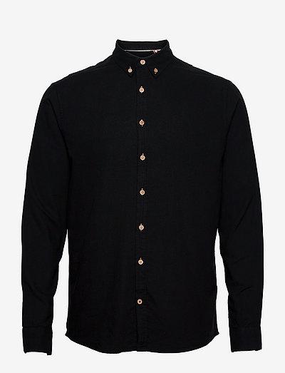 Dean Diego Cotton shirt - chemises basiques - black