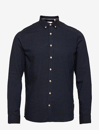 Dean Diego Cotton shirt - chemises basiques - navy