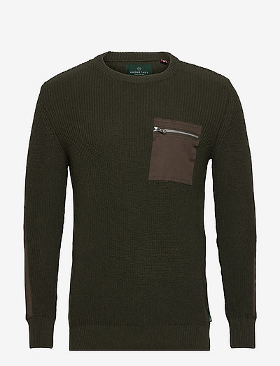 Pelle Recycled cotton knit - tricots basiques - army