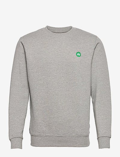 Lars Organic/Recycled crew sweat - sweats - grey mel