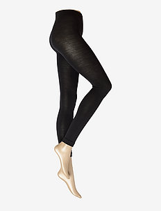 Soft Wool Cotton - leggings - black