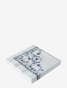 Musselmalet Lunch Napkins, 40x40, 20 pce - servietter - blue pattern