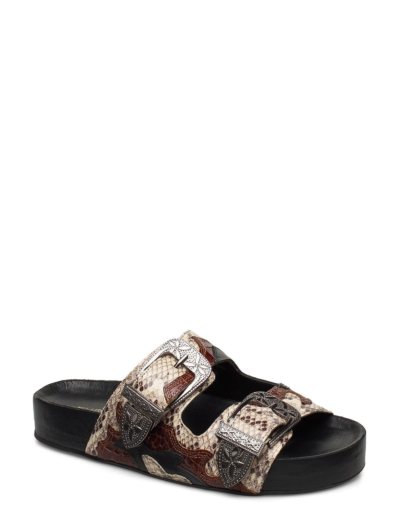 Image of Dellis Shoes Summer Shoes Flat Sandals Brun Kurt Geiger London (3329983607)