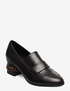 RAQUEL BLOCK LOAFER - BLACK