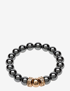 La Chance Happy Bead Bracelet Hematite - dainty - hematite