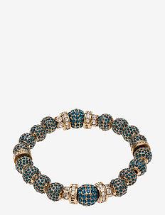 La Chance Crystal Ball Bracelet Gold - dainty - dark blue