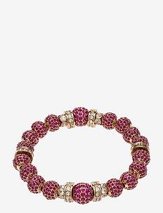 La Chance Crystal Ball Bracelet Gold - PINK