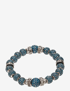 La Chance Crystal Ball Bracelet Silver - dainty - dark blue