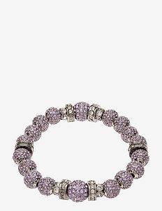 La Chance Crystal Ball Bracelet Silver - dainty - light purple