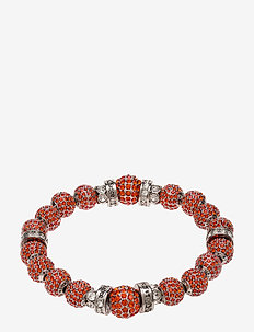 La Chance Crystal Ball Bracelet Silver - dainty - orange