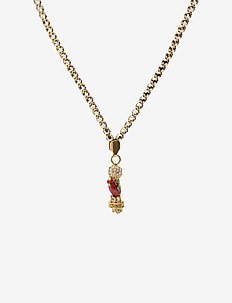 La Chance Long Zodiac Necklace Gold - ROOSTER