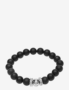 La Chance Happy Bead Bracelet Onyx - dainty - black onyx