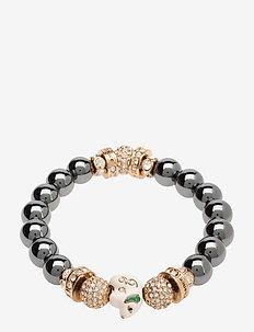 La Chance Zodiac Bead Bracelet Hematite - HEMATITE/GOLD