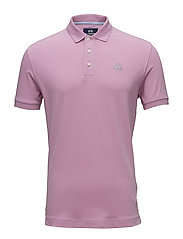 MAN POLO S/S PIQUET STRETCH - ORCHID SMOKE